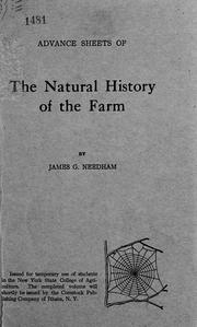 Cover of: The natural history of the farm | Needham, James G.
