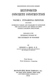 Reinforced concrete construction by George Albert Hool