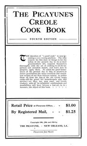 Cover of: The Picayune's Creole cook book |