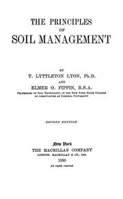 Cover of: The principles of soil management