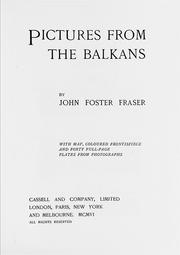 Cover of: Pictures from the Balkans | John Foster Fraser