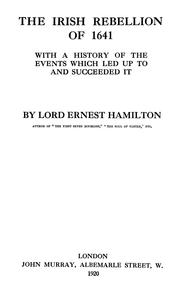 Cover of: The Irish rebellion of 1641 | Hamiliton, Ernest William Lord