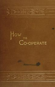 Cover of: How to coöperate