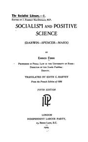 Cover of: Socialism and positive science