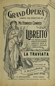 Cover of: La traviata = by Giuseppe Verdi