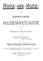 Cover of: House and home | Marion Harland