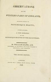Cover of: Observations on the western parts of England by Gilpin, William