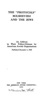 Cover of: The  Protocols, Bolshevism and the Jews |