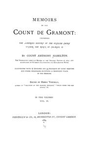 Cover of: Mémoirs of the Count de Grammont | Count Anthony Hamilton
