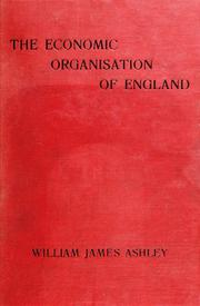 Cover of: The economic organisation of England