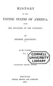 Cover of: History of the United States of America from the discovery of the continent
