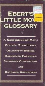Cover of: Ebert's Little Movie Glossary
