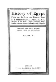 Cover of: History of Egypt from 330 B.C. to the present time