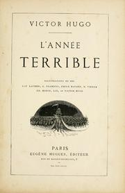Cover of: L' Année terrible by Victor Hugo