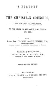 Cover of: A history of the Christian councils | Karl Joseph von Hefele