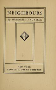 Cover of: Neighbours | Kaufman, Herbert