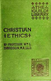 Cover of: Christian ethics
