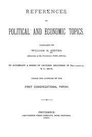 Cover of: References to political and economic topics ... | William E. Foster