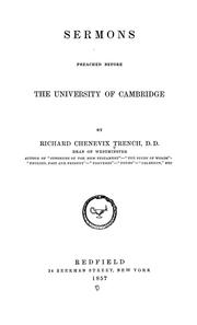 Cover of: Sermons preached before the University of Cambridge