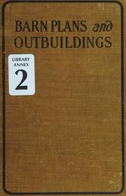 Cover of: Barn plans and outbuildings