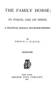 Cover of: The family horse | Martin, George A.