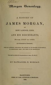Cover of: Morgan genealogy | Nathaniel H. Morgan