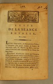 Cover of: Suite de la séance royalle [sic]