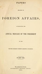 Cover of: Papers relating to foreign affairs | United States. Department of State.