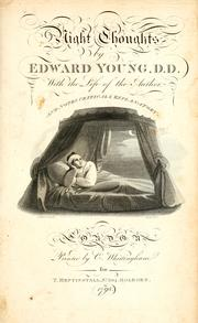 Cover of: Night thoughts | Edward Young