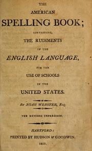 Cover of: The American spelling book by Noah Webster