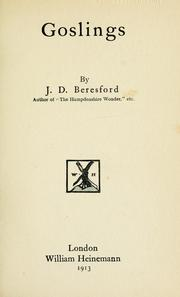Cover of: Goslings by J. D. Beresford
