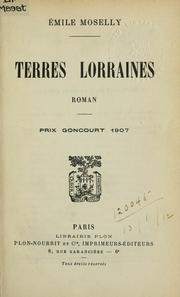 Cover of: Terres Lorraines | Émile Moselly