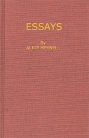 Cover of: Essays