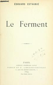 Cover of: Le ferment