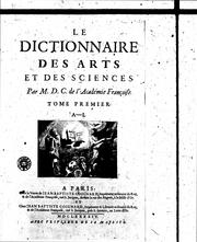 Cover of: Le dictionnaire des arts et des sciences | Thomas Corneille