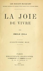 Cover of: La joie de vivre by Émile Zola