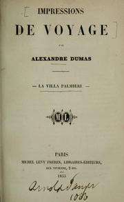 Cover of: Impressions de voyage by Alexandre Dumas