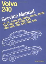 Cover of: Volvo 240 service manual |