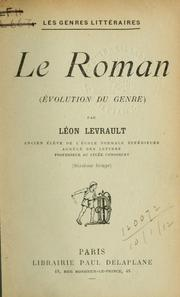 Cover of: Le roman, évolution du genre