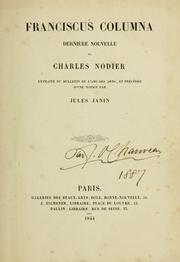 Cover of: Francisous Columna | Charles Nodier
