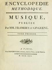 Cover of: Musique
