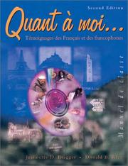 Cover of: Quant à moi--