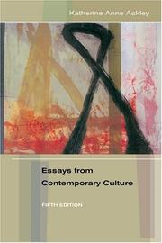 Cover of: Essays from contemporary culture |