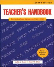 Cover of: Teacher's handbook