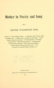 Cover of: Mother in poetry and song | George Washington Nims
