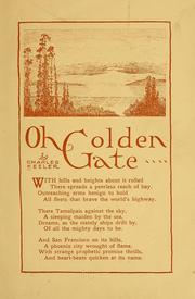 Cover of: Oh golden gate... | Charles Augustus Keeler