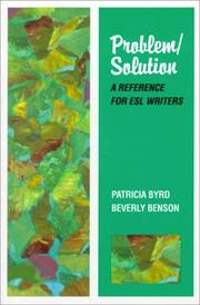 Cover of: Problem/Solution by Patricia Byrd, Beverly Benson