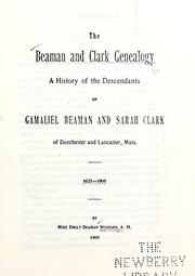 Cover of: The Beaman and Clark genealogy by Emily Beaman Wooden