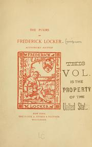 Cover of: The poems of | Frederick Locker-Lampson