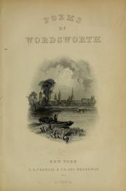 Cover of: Poems of Wordsworth. | William Wordsworth